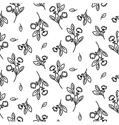 Tiny floral seamless simple pattern vector
