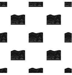 vacation homerealtor single icon in black style vector image