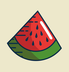 watermelon fresh fruit handmade drawn vector image vector image