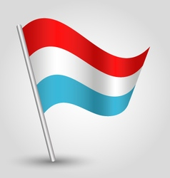waving simple triangle luxembourger flag vector image