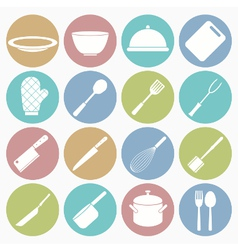 white icons kitchen vector image vector image