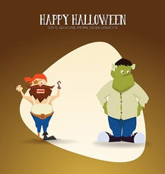 With halloween and monster vector