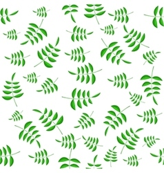 Summer green leaves seamless pattern vector