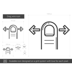 Drag wire line icon vector