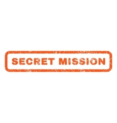 Secret mission rubber stamp vector