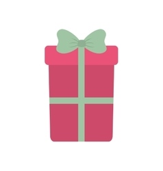 Pink big gift box with bow vector