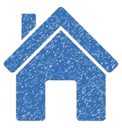 House grainy texture icon vector