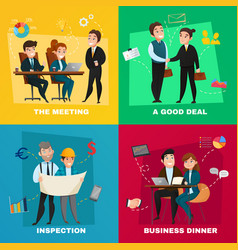 Business people concept set vector