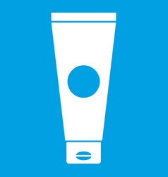 Cream tube icon white vector