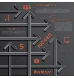 Modern template infographics design for business vector
