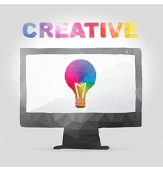 Creative concept in polygon design vector