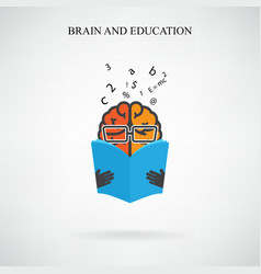 Creative brain sign vector