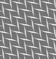 Monochrome pattern with gray braid grid vector