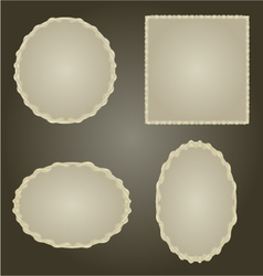 Decorative silver frame Circle oval and square vector image