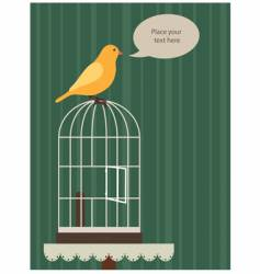 yellow canary vector image