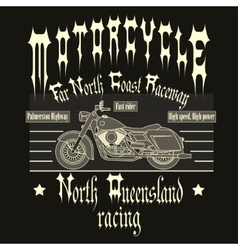 Motorcycle racing typography t-shirt vector