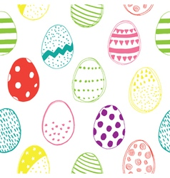 Easter pattern color vector
