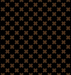 Seamless pattern with cross on black vector image