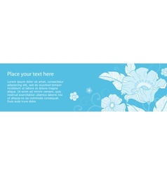 Banner flowers monochromatic vector image