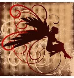 angel background vector image