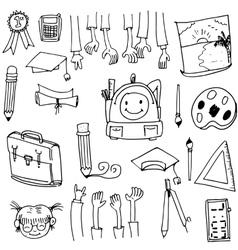 Doodle of school collection stock art vector