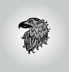 abstract doodle eagle wildlife collection vector image