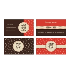 bakery business cards template with logo vector image