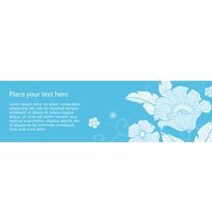 Banner flowers monochromatic vector image