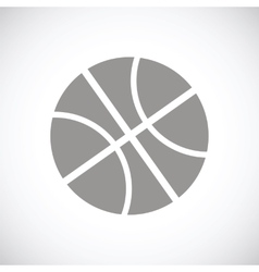 Basketball black icon vector
