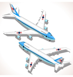 Boeing aircraft isometric airplane vector
