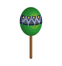 Brazilian maracas culture icon vector