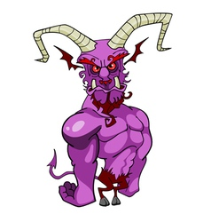 Cartoon horned demon vector