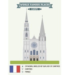 Cathedral chartres vector
