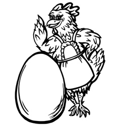 chicken and the egg vector image