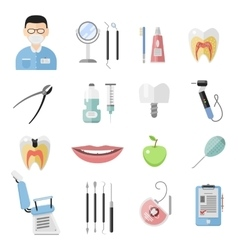 Dental icons set vector image