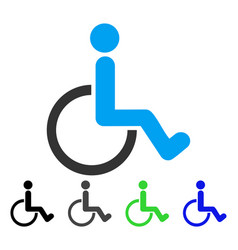 Disabled person flat icon vector