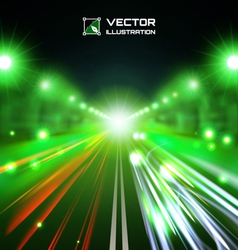 green tint night road vector image vector image