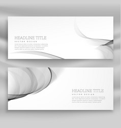 Horizontal set of abstract wave banners template vector