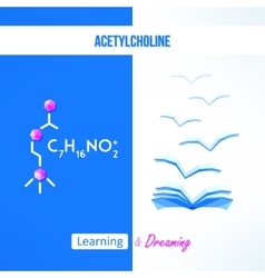Learning chemistry concept chemistry poster with vector
