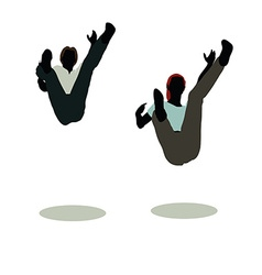 man and woman silhouette in Still Pose Falling vector image vector image