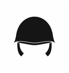Military helmet icon simple style vector