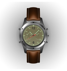 Military watch isolated on a white background vector