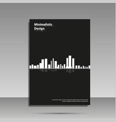 minimalist design black and white brochure vector image vector image