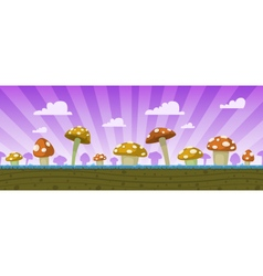 Mushrooms game background vector