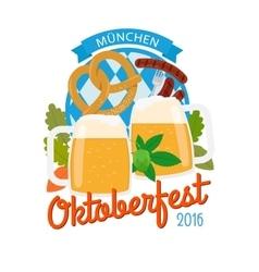 Oktoberfest 2016 vertical poster vector