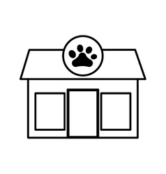 Pet shop store building vector