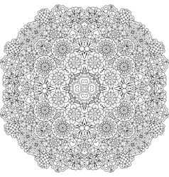 Pretty geometric floral designs on white vector