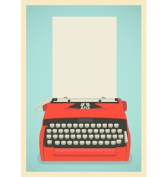 Retro typewriter background vector image