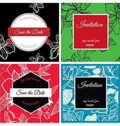Save the date 002 vector image vector image