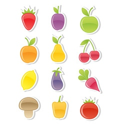 Set of fruits and vegetables vector
